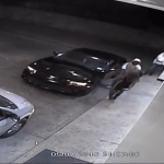 The moment the carjacker confronts his victim