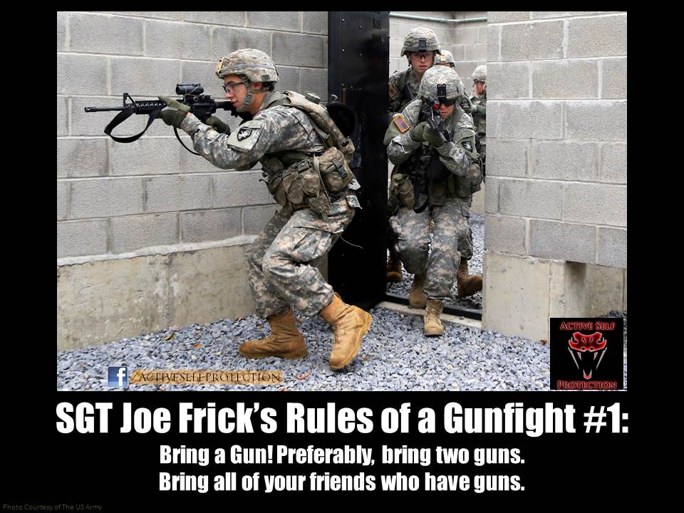 Joe Frick's Rules for a Gunfight