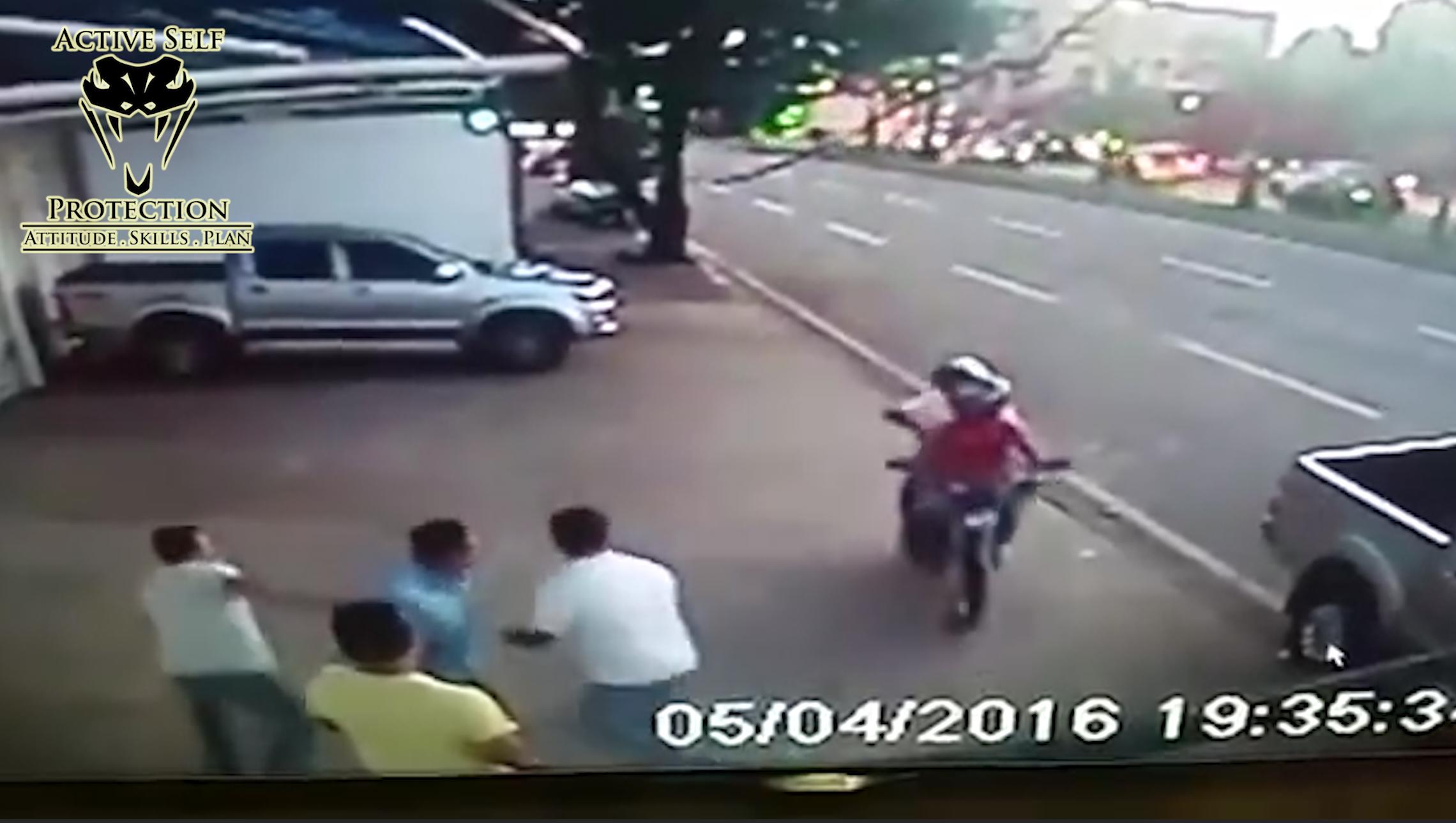 armed robbery begins