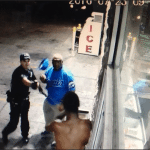 Security Officer Uses Pepper Spray to End Fight
