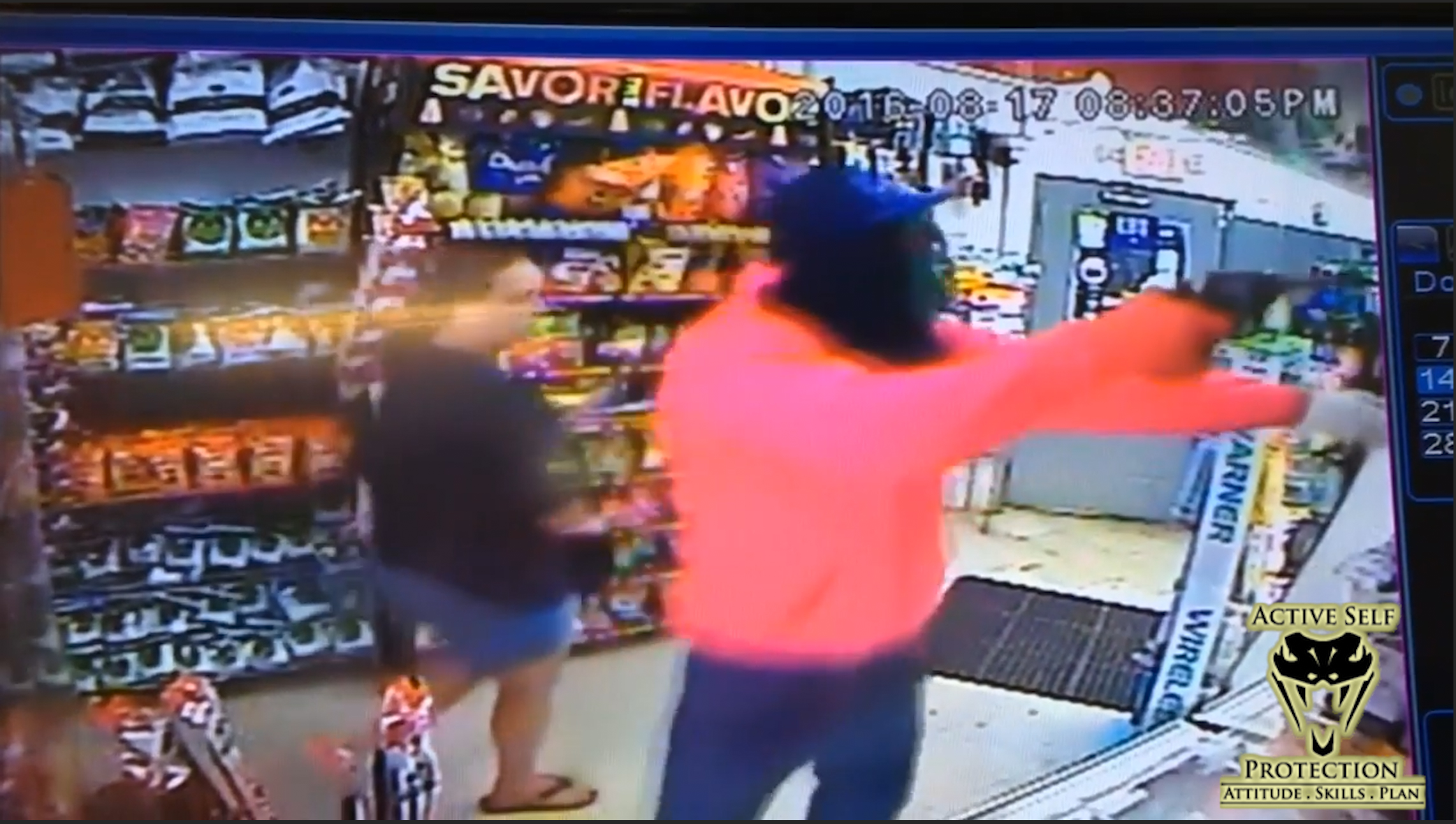 Armed Robber Meets Armed Clerk