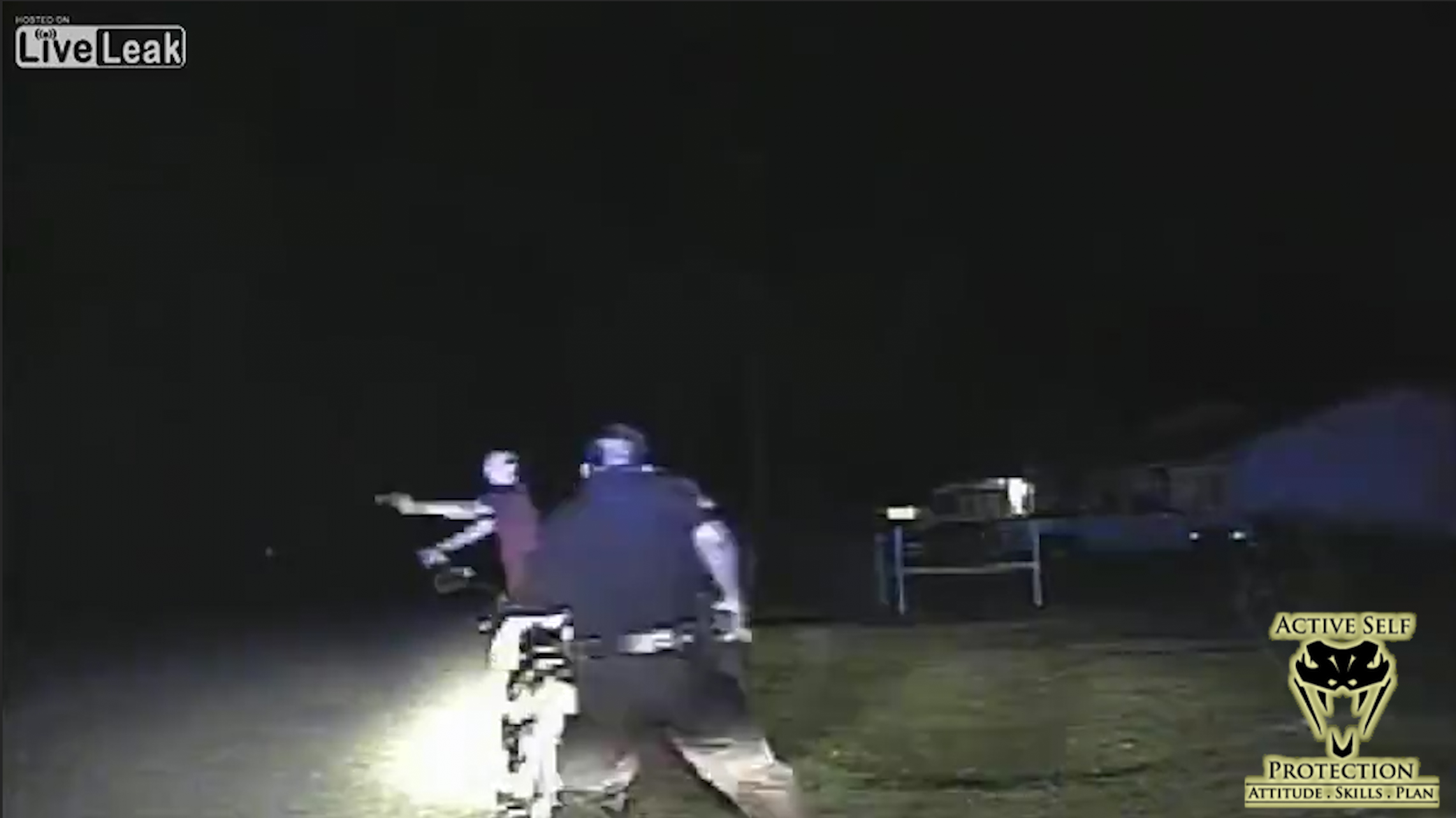 Man Caught on Camera Pulling Gun on Two Cops