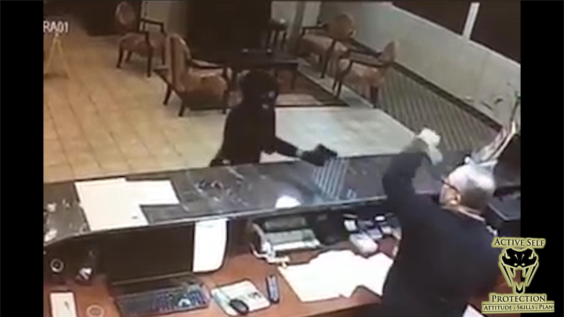 Clerk Grabs Armed Robbers Gun